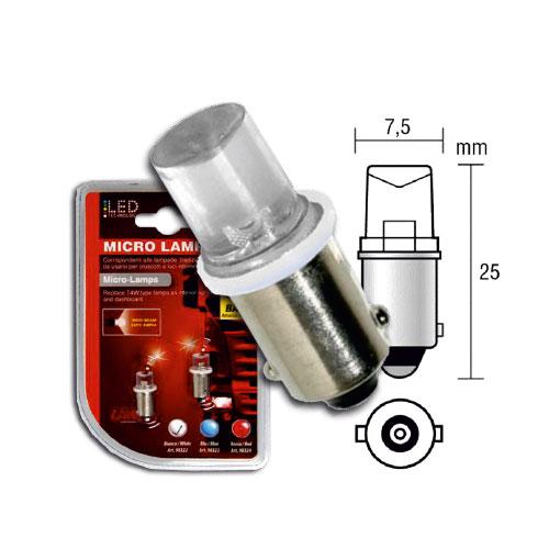 LED žiarovka BA 9S 24V  W / 1 - biela