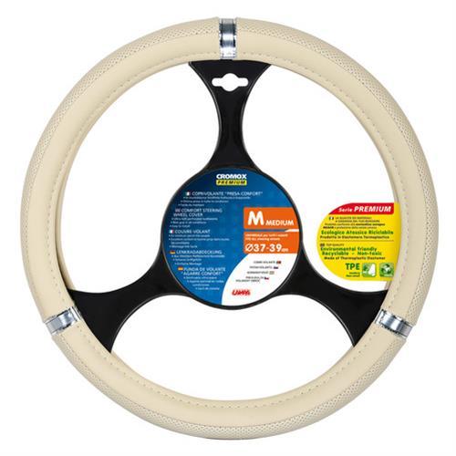 Popťah volantu béžový/chróm  37/39cm CROMOX