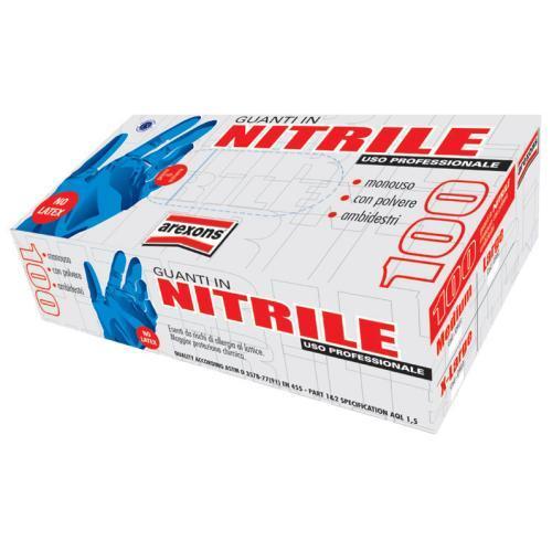 Ochranné rukavice NITRILE č. L100ks